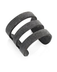 Nest - Black Horn Cage Cuff Bracelet - Lyst