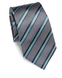 Brioni - Blue Diagonal Striped Silk Tie for Men - Lyst