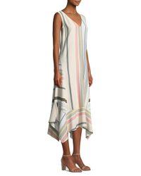 Lafayette 148 New York - Natural Isla Striped Maxi Dress - Lyst
