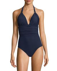 8a198f4ed9b4a Lyst - ViX Bia Tube One-piece Swimsuit in Blue