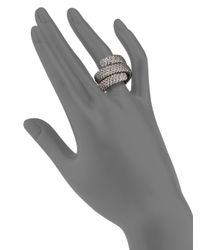 John Hardy   Metallic Classic Chain Sterling Silver Double Coil Ring   Lyst