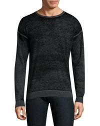 John Varvatos | Gray Knitted Cotton Sweater for Men | Lyst