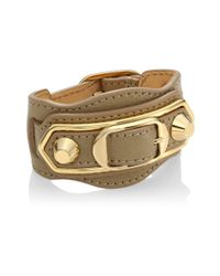 Balenciaga - Multicolor Carry Over Goldtone Leather Bracelet - Lyst