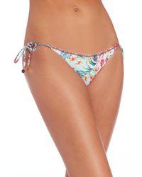 OndadeMar - Multicolor Embroidered String Bikini Botton - Lyst