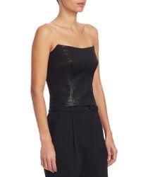 Akris Punto - Black Strapless Lurex-knit Top - Lyst