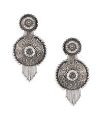 DANNIJO - Metallic Ahava Circle Earrings - Lyst