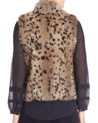 Joie - Multicolor Merwyn Leopard Print Rabbit Fur Vest - Lyst