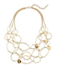 Saks Fifth Avenue | Metallic Hammered Loop Bib Necklace | Lyst