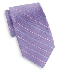 Saks Fifth Avenue | Purple Pinstripe Silk Tie for Men | Lyst