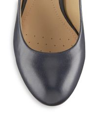 Geox - Gray Marie Claire Leather Pumps - Lyst