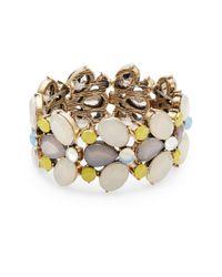 R.j. Graziano - Metallic Multi-bead Stretch Bracelet - Lyst