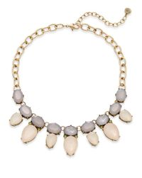 R.j. Graziano - Gray Pastel Beaded Necklace - Lyst