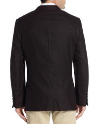 Saks Fifth Avenue - Purple Double Faced Wool Jacket for Men - Lyst