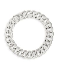 Adriana Orsini | Metallic Hammered Chunky Link Collar Necklace/silvertone | Lyst