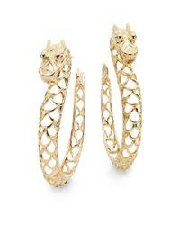 John Hardy | Metallic Naga 18k Yellow Gold Dragon Hoop Earrings | Lyst