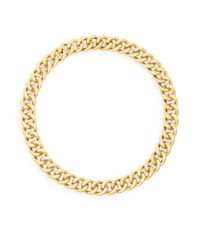 Adriana Orsini - Metallic Hammered Link Collar Necklace - Lyst