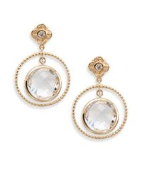 Stephen Dweck - Metallic Quartz & Bronze Hoop Drop Earrings - Lyst