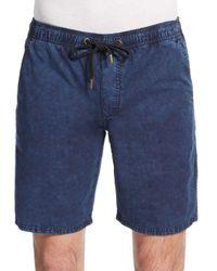 Ezekiel - Blue Kamden Acid-wash Cotton Shorts for Men - Lyst