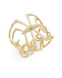 Alexis Bittar - Metallic Miss Havisham Kinetic Crystal Mirrored Bracelet - Lyst