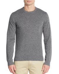 Saks Fifth Avenue | Gray Cashmere Crewneck Sweater for Men | Lyst