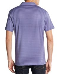 Robert Barakett - Purple Malcolm Striped Pima Cotton Polo for Men - Lyst