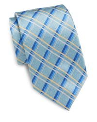 Burma Bibas | Blue Check Silk Tie & Gift Box for Men | Lyst