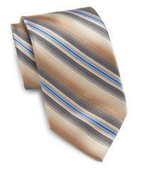 Burma Bibas | Brown Shadow Stripe Silk Tie & Gift Box for Men | Lyst