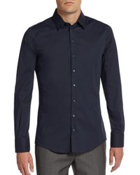 Dolce & Gabbana - Blue Regular-fit Stretch-cotton Sportshirt for Men - Lyst