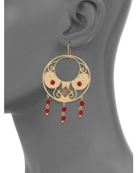 Stephanie Kantis | Antiquity Red Crystal & Smoky Topaz Drop Earrings | Lyst