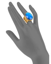 Stephanie Kantis - Metallic Casablanca Faceted London Blue Crystal Ring - Lyst