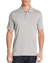 Saks Fifth Avenue | Gray Pima Cotton Polo Shirt for Men | Lyst