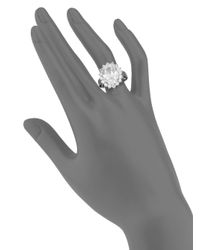 CZ by Kenneth Jay Lane   Metallic Oval White Stone Ring   Lyst