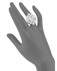 CZ by Kenneth Jay Lane - Metallic Marquis White Stone Ring - Lyst