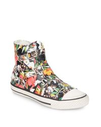 Ash | Multicolor Virgin Leather High-top Sneakers | Lyst