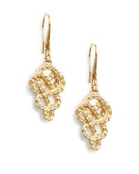 John Hardy | Metallic Classic Chain 18k Yellow Gold Braided Drop Earrings | Lyst