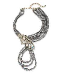 Heidi Daus - Metallic Swarovski Crystal Multi-row Beaded Necklace - Lyst