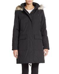 Calvin Klein | Black Faux Fur-trimmed Arctic Parka | Lyst