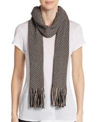 Missoni | Gray Wool-blend Two-tone Zig-zag Scarf | Lyst