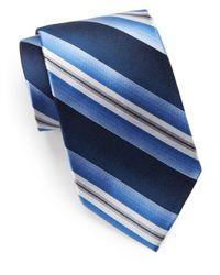 Burma Bibas | Blue Silk Striped Tie for Men | Lyst