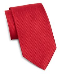 Burma Bibas | Red Solid Silk Tie for Men | Lyst