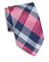 Burma Bibas | Blue Plaid Check Silk Tie for Men | Lyst