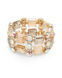 Saks Fifth Avenue | Metallic Mixed Stone Two-row Bracelet/goldtone | Lyst