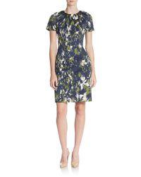 Jason Wu - Blue Printed Cotton & Silk Dress - Lyst