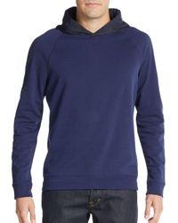 Vince | Blue Hooded Fleece Sweatshirt for Men | Lyst