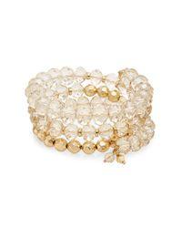 Saks Fifth Avenue | Metallic Beaded Bracelet | Lyst