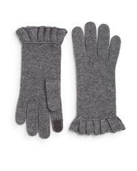 Saks Fifth Avenue | Gray Tech Wool-blend Gloves | Lyst