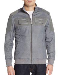 Calvin Klein | Gray Tonal Blocked Zip Jacket for Men | Lyst