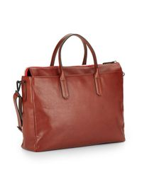 Ben Minkoff | Brown Brompton Leather Briefcase for Men | Lyst