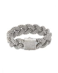 John Hardy - Metallic Diamond & Sterling Silver Bracelet for Men - Lyst