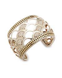 John Hardy   Metallic Naga Diamond, 18k Bonded Gold & Sterling Silver Cuff Bracelet   Lyst
